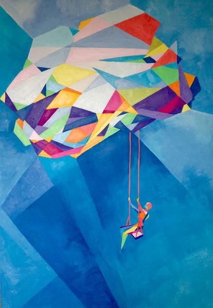 """MindCloud"" (oil on canvas) by Daria Kolesnikova"
