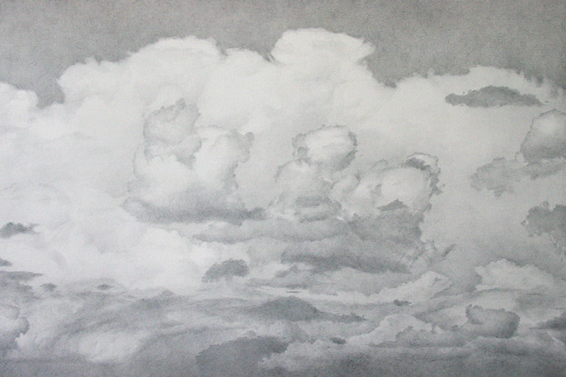 """""""Taos, New Mexico #2"""" (silverpoint drawing) by Dennis Angel"""