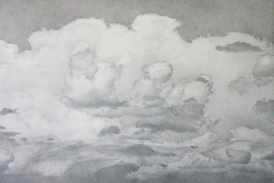 """Taos, New Mexico #2"" (silverpoint drawing) by Dennis Angel"