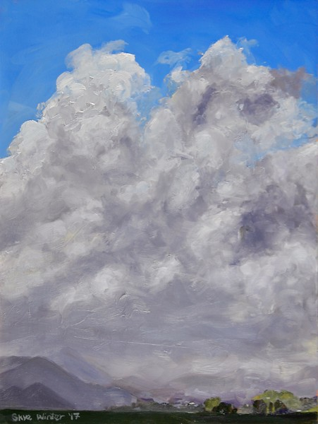 """Relief Wall"" (oil) by Skye Coddington"