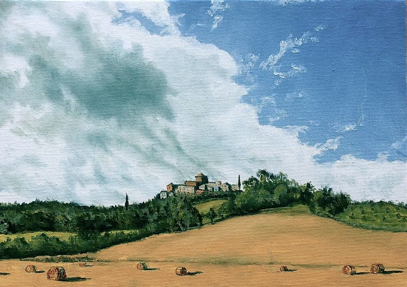 """""""A View of Fabro From the South"""" (oil on panel) by Louis Degni"""