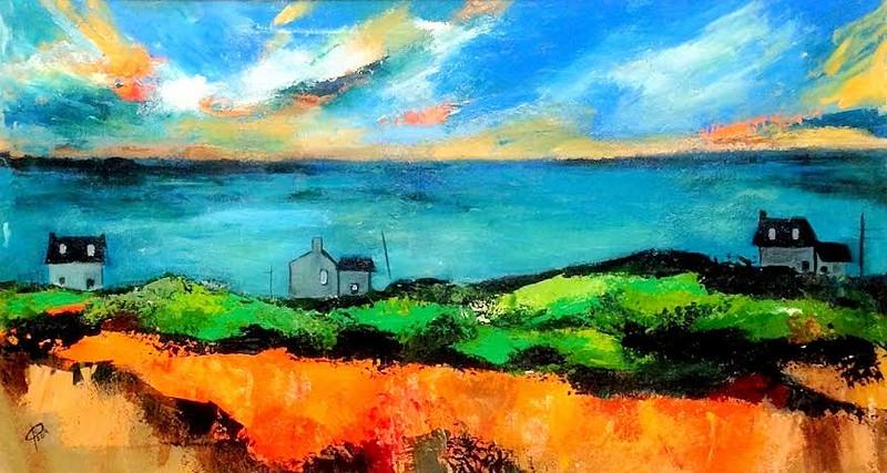 """""""CALM"""" (oil on canvas) by Svetlana Kobrakova"""