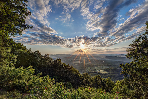 """Blue Ridge Sunrise"" (photography) by J Michael Willliams"