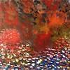"""Lake on Fire"" (acrylic) by Vasile Ghiuta"
