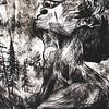 """Seeks Solace"" (ink etching) by Hannah Deters"