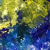 """""""Cosmic Dust 2"""" (mixed media - acrylics and pastel) by Diann Klink"""