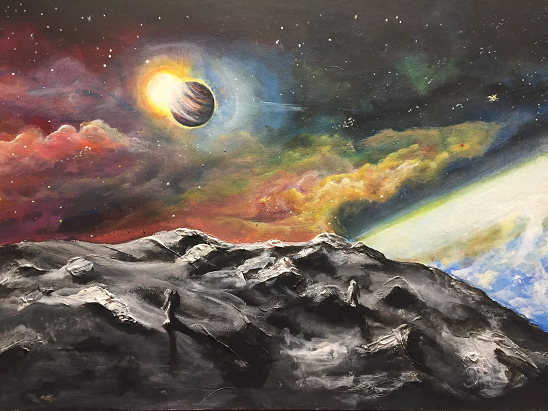 """Space mystery"" (oil on canvas) by Alina Kaiumova"