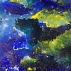 """""""Cosmic Dust 1"""" (mixed media - acrylics and pastel) by Diann Klink"""