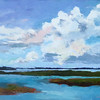 """Summer Clouds"" (oil on canvas) by Pam Folsom"