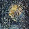 """Midwinter Moon' (acrylic) by Irina Maiboroda"