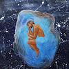 """Human Born"" (watercolor and acrillyc on paper) by Olga Pekarskaja"