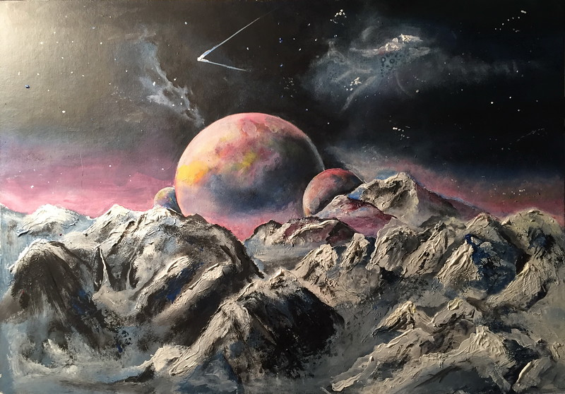 """Space mystery 2"" (oil on canvas) by Alina Kaiumova"
