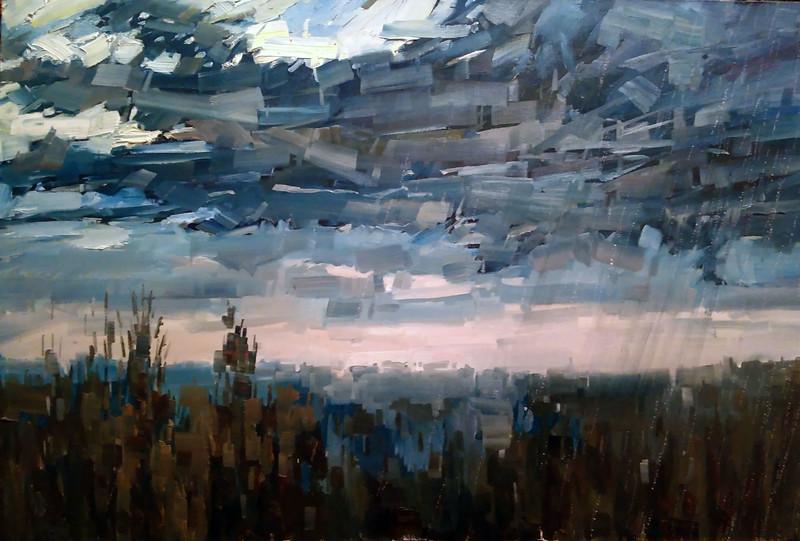 """""""Dawn dragon"""" (oil on canvas) by Roman Vydrin"""