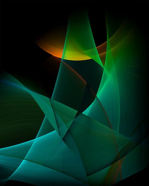 """Moonlit Deep"" (digital painting Dye-sublimated to metal) by Jill Blackwell"
