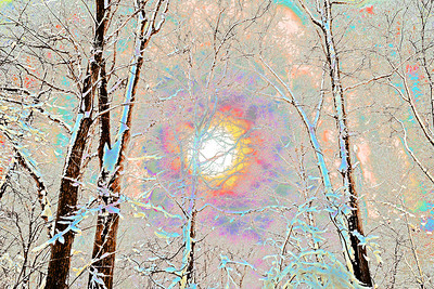 """Winter Light"" (digitally altered photograph on aluminum) by John Michael Edington"