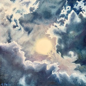 """""""Here Comes the Sun"""" (oil on canvas) by Mitra Devon"""