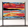"""Fiery Sky"" (glass) by Susan Roston"