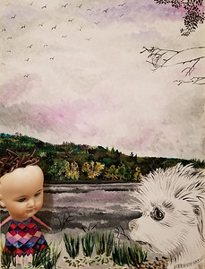 """""""Before The Rain"""" (acrylic and assemblages on Canvas) by Jennifer Carberry-Landis"""