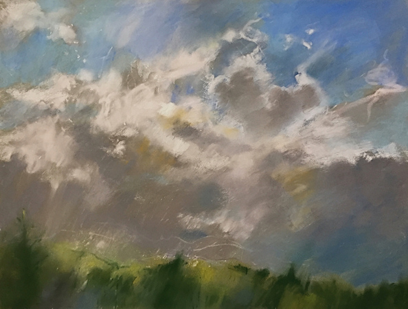 """""""Early Spring Clearing"""" (pastel) by Wendy Goldberg"""