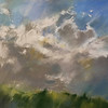 """Early Spring Clearing"" (pastel) by Wendy Goldberg"