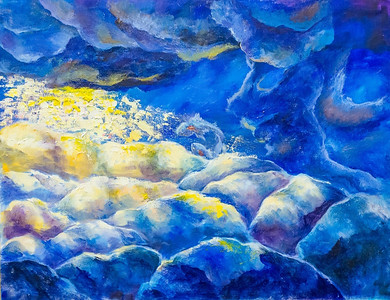 """""""behind the clouds"""" (oil on canvas) by Kate Chaetskaya"""