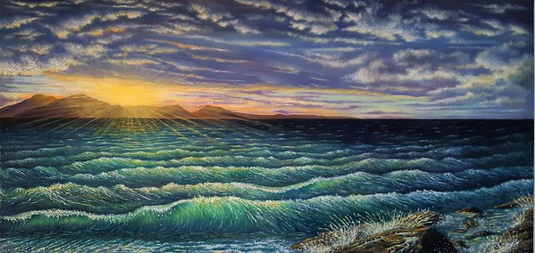 """""""Afterglow"""" (oil) by Donna L. Byers"""
