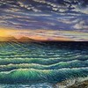 """Afterglow"" (oil) by Donna L. Byers"