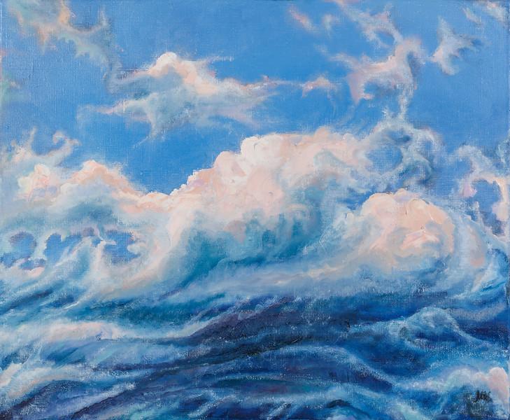"""Clouds of Baikal"" (oil on canvas) by Mariya Kuklina"
