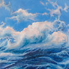 """Clouds of Baikal"" (oil on canvas) by Mariya Kuklina"