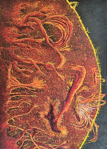 """""""Chaos, A Thread Theory"""" (machine embroidery ) by Bob Mosier"""