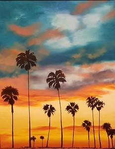 """Clouds"" (oil on canvas) by Nina Kovalova"