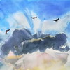 """Flight"" (watercolor) by Irina Sokolova"