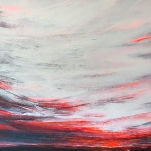 """""""Sunrise"""" (acrylic on canvas) by Naima Karim"""
