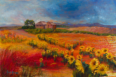 """""""Tuscan Storm Clouds"""" (acrylic) by Rose Krauser"""