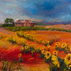"""Tuscan Storm Clouds"" (acrylic) by Rose Krauser"