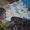 """""""Sky as a home"""" (oil on canvas) by Olga Yagodina"""