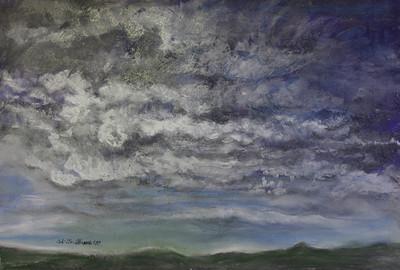 """DANCING CLOUDS"" (pastel) by Tobi Abrams"