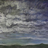 """DANCING CLOUDS"" (pastel) by Tobi Abrams"