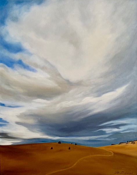 """Big Sky Over Ken Caryl Hogback II"" (oil on canvas) by Mitra Devon"