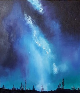 """Night sky"" (oil on canvas) by Nina Kovalova"