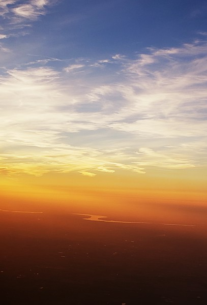 """Flying into Dusk"" (photography) by Carrie Gary"