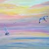 """Boundless Sky"" (acrylic on canvas) by Irina Sokolova"