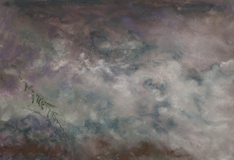 """""""GATHERING CLOUDS"""" (pastel) by Tobi Abrams"""