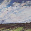 """Skies Insight"" (gouache) by Olga Yagodina"