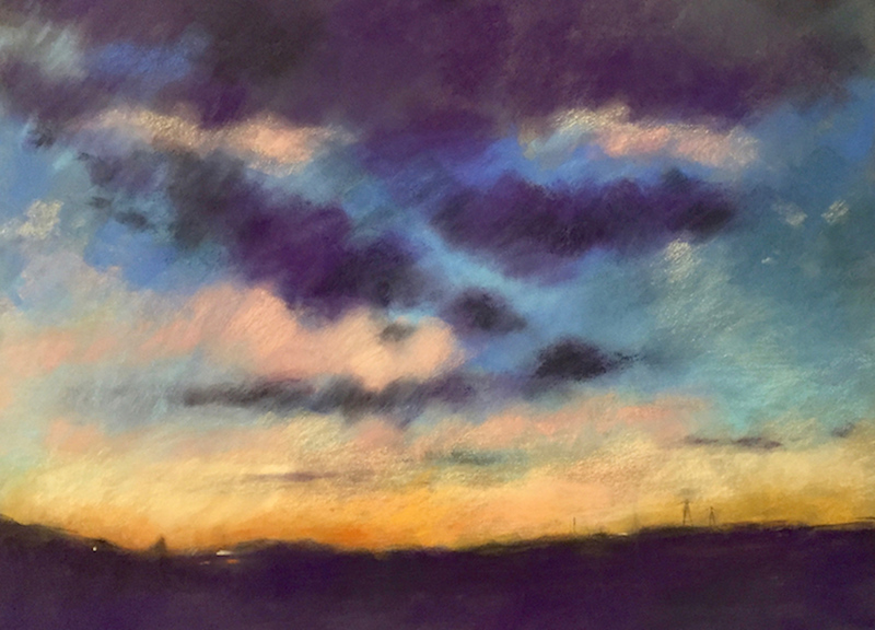 """""""Just North of Here"""" (pastel) by Wendy Goldberg"""