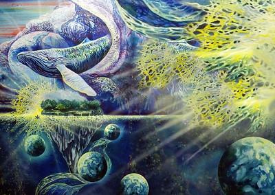 """Outland light"" (oil on canvas) by Rina Airis"