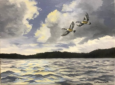 """""""Stormy-Lake of the Woods"""" (acrylic) by Judy Phearson"""
