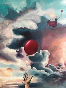 """Changed his mind"" (acrylic on canvas) by Nina Lyutova"