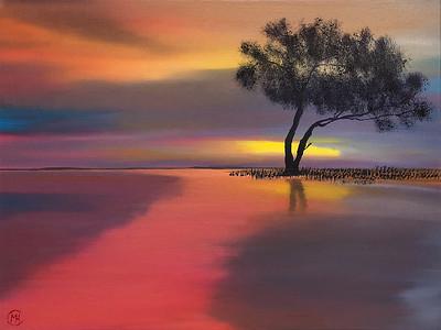 """Quietude"" (oil on panel) by Monika Csanyi"