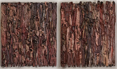 """Diptych 0126&0127"" (acrylic, polymers on canvas) by Natalia Popova"